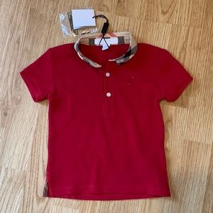 Burberry Red Polo Shirt